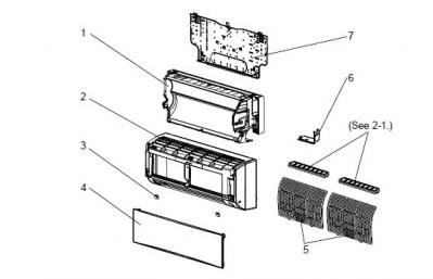 pi ces pour mitsubishi electric msz gc35va e1. Black Bedroom Furniture Sets. Home Design Ideas